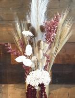 Dried Flower Vase- Burgundy