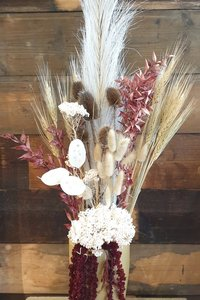 Dried Flower Vase- Burgundy