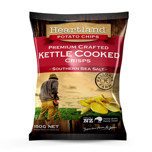 Southen Sea Salt Heartland Kettle GF Chips