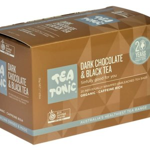 TT Dark Choc &Black Tea 20 Tea Bag Box