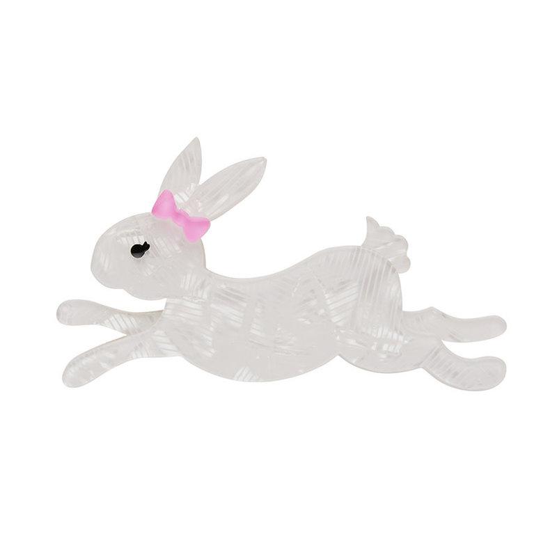 Marshmallow Rabbit Brooch