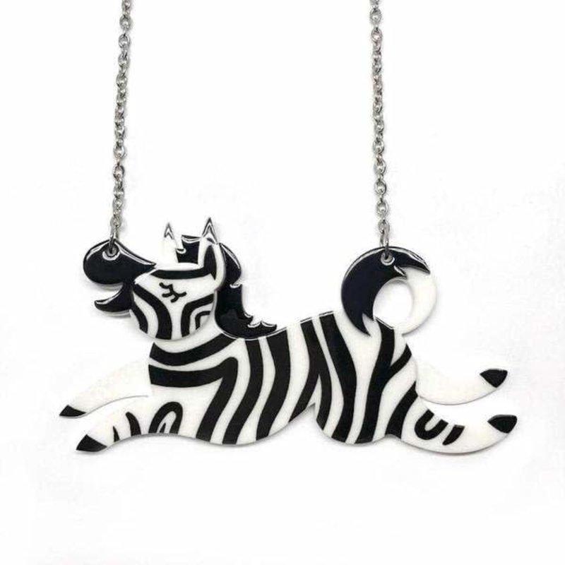 LEA Zebra Crossing Necklace