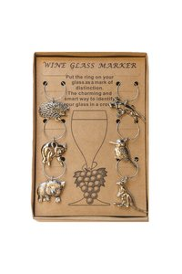 AGA Wine Glass Markers (Aust. Animals)