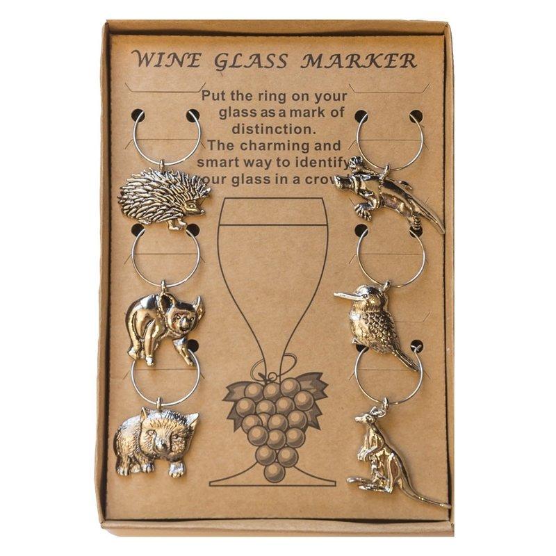 AGA Wine Glass Markers (Aust. Animals)
