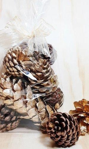 PPI Pine Cones Gold/natural Bag