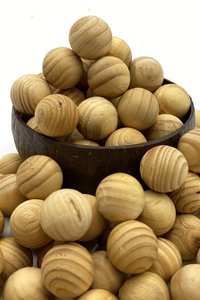 PPI Ginger Bread Wooden Balls 12pc