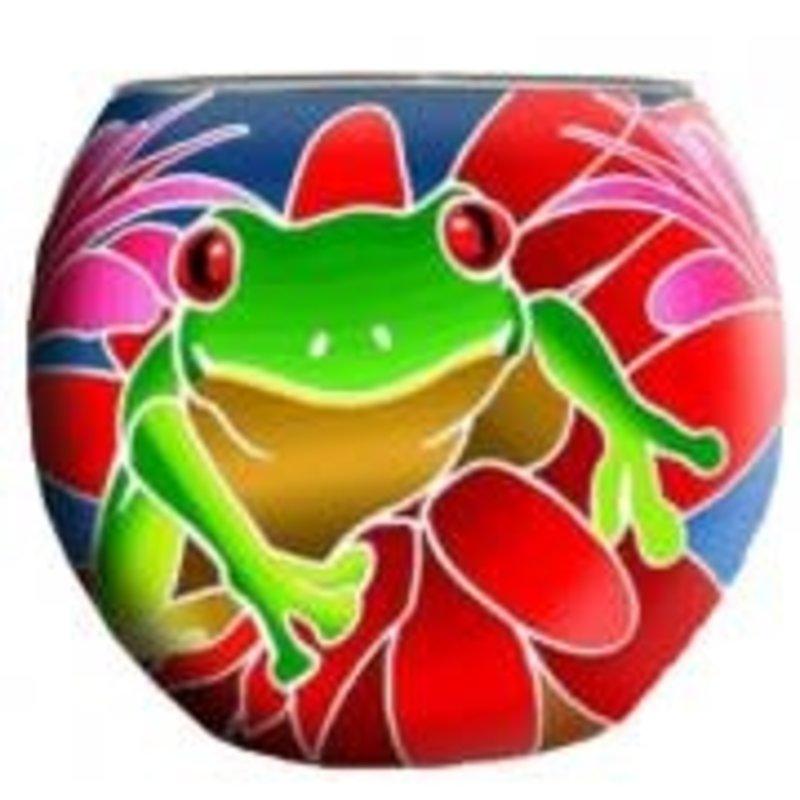 GI Glowing Glass Frog Greens & Reds
