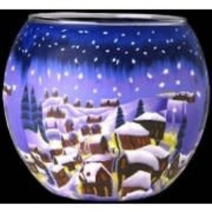 GI Candle Holder Snowy Town
