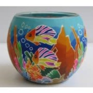 GI Tropical Fish Glowing Glass