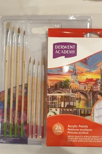 Derwent Academy Acrylic Pain and Canvas set