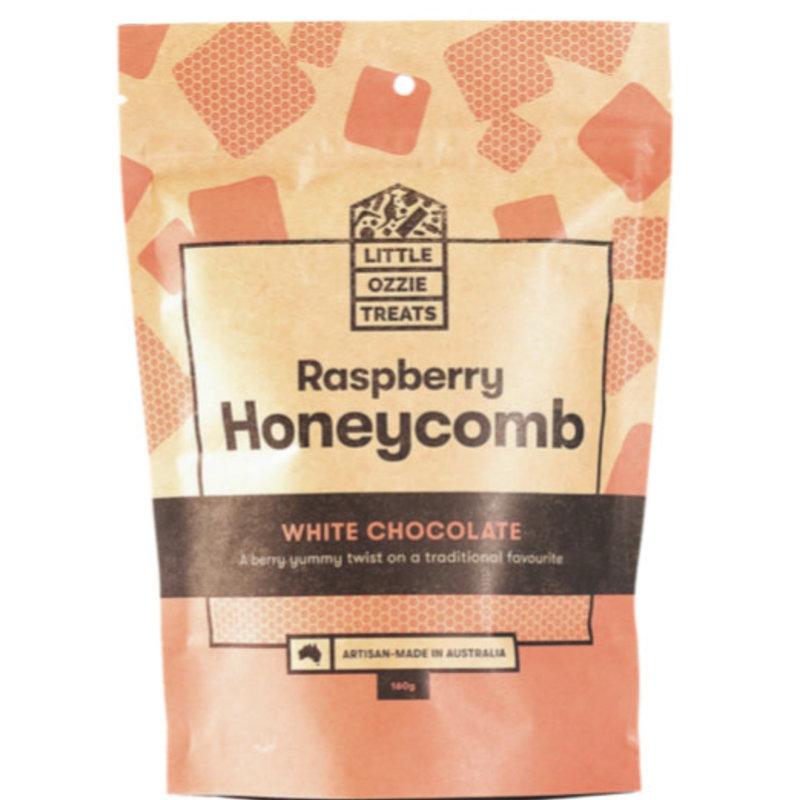 MC Honeycomb Raspberry While Choc 150g