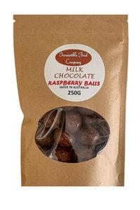 MC Milk Choc Raspberrys 250g