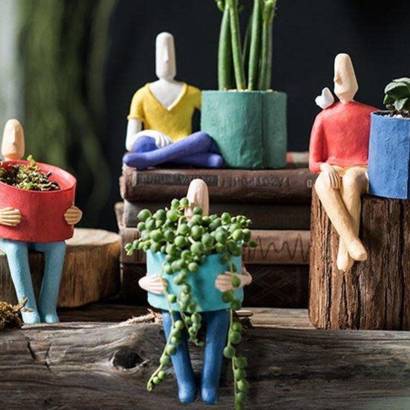 Ceramic Pot Men (random Selection)