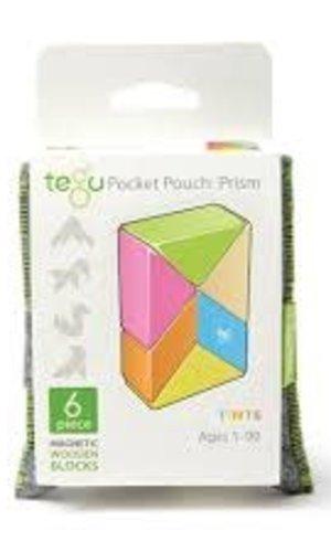 BNP 6 Pce Magnetic Wooden Blocks Prism Tints