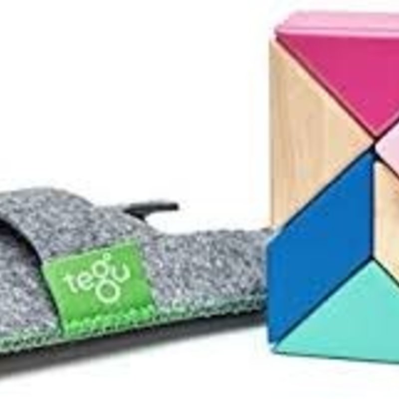 BNP 6 Pce Magnetic Wooden Blocks Prism Bloss