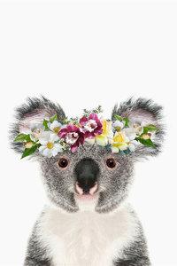 Canvas Koala With Flower Crown 50X70cm