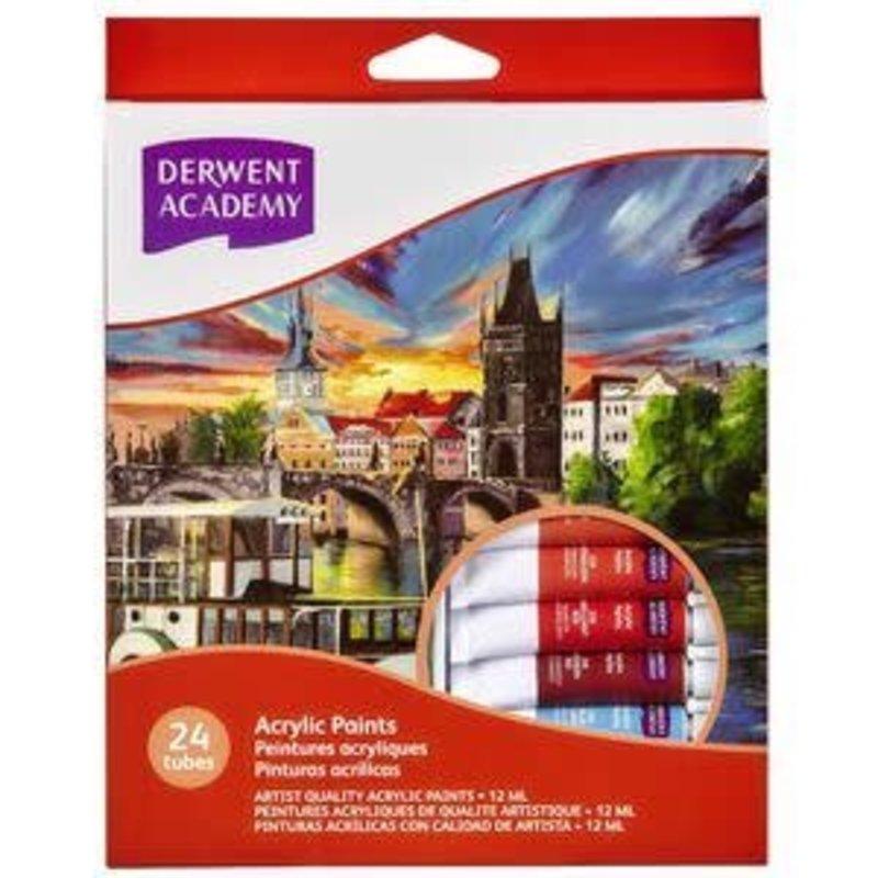 Derwent Academy Acrylic Paint 24Pk
