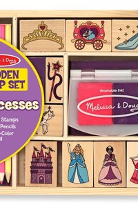 M & D Princess Wooden Stamp Set
