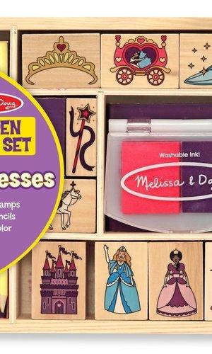 M & D Princess Wooden Stamp Set
