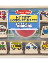 M & D Vehicles Wooden Stamp Set