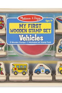 M & D Vehicles Wooden Stamp Set