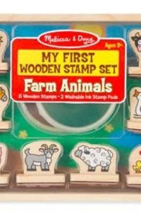 M & D Farm  Animals Stamp Set