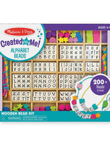 M & D Alphabet Beads Wooden Stringing