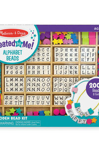 M & D Alphabet Beads Wooden Stringing