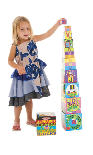 M & D Alphabet Nesting & Stacking Blocks