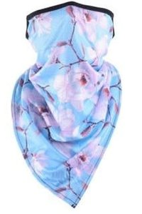 Mask It Scarf Floral -BLUE