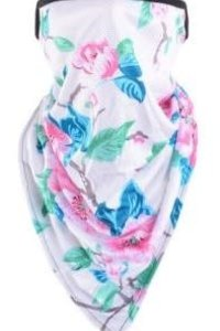 Mask It Scarf Floral -WHITE