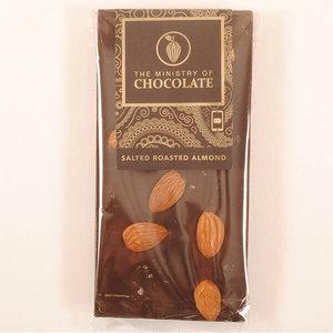 Dark Choc Salted Almond 100g bar