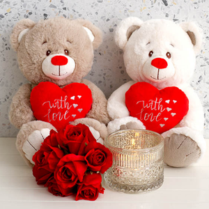 RNR Valentine Plush With Heart 26cm (ASSORTED)
