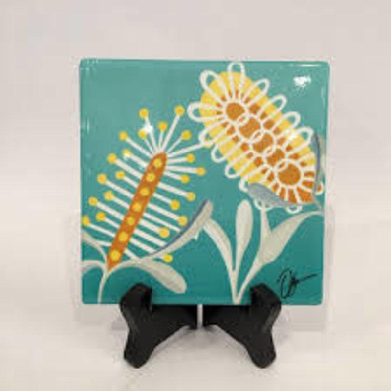 Ceramic Coaster Banksia