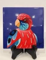 Ceramic Coaster Rosella