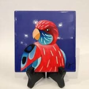 Ceramic Coaster Rosella