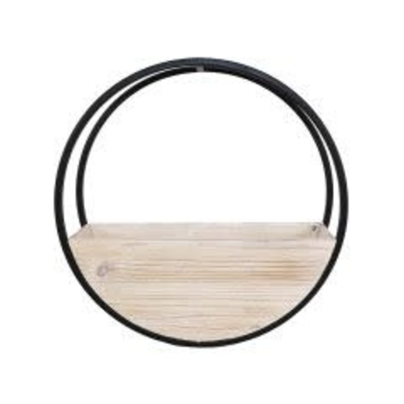Circle Wall Planter White Wash