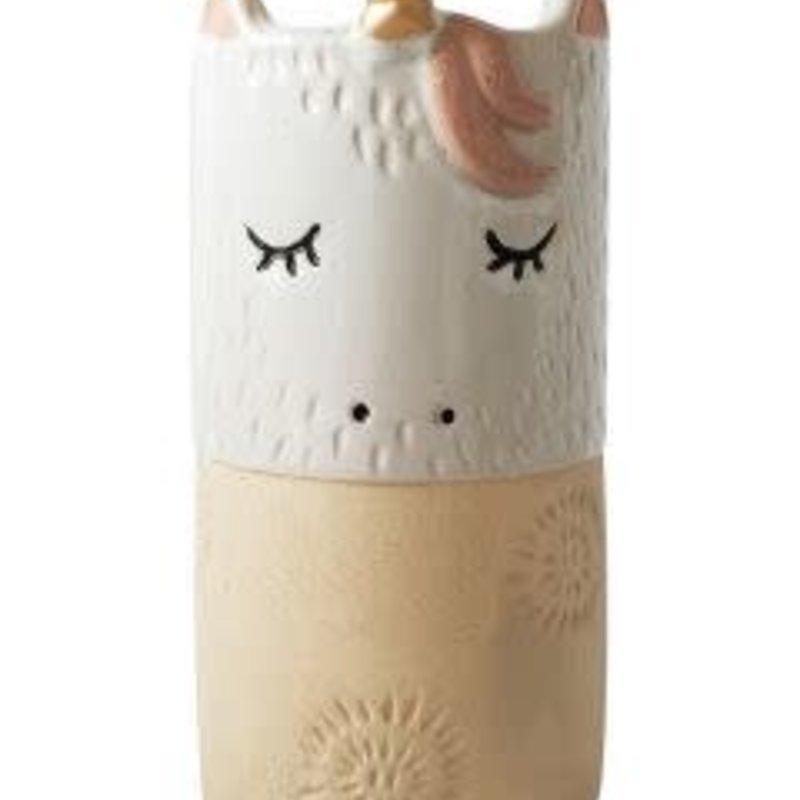 Unicorn Vase White W/stand