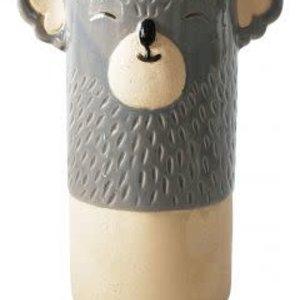Koala Vase gray  10X20cm