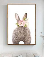 Canvas Print Bunny Back
