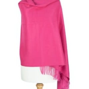 Suri Alpaca Shawl  Deep Pink