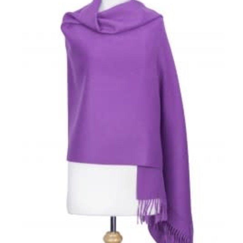 Suri Alpaca Shawl Purple Violet