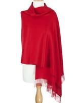 Suri Alpaca Shawl Deep Red