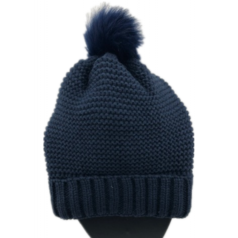 Navy Blue Knitted Hat Gsh44