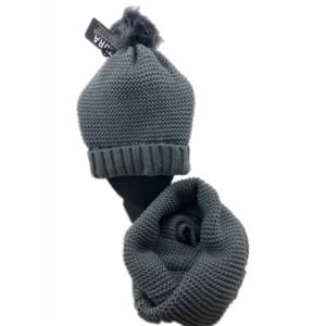 Stylish knitted  hat  Grey  (scarf sold separately)