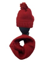 Stylish knitted hat Red 48  (scarf sold separately)