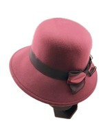 BURGUNDY Bowler Hat LMTZ20