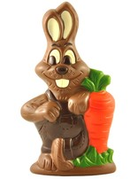 Milk chocolate Easter Bunny with Carrot