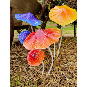 Metal Mushrooms Double (random Colour)