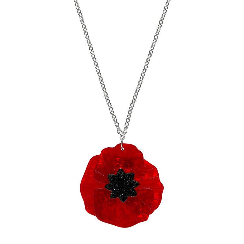Poppy Field Pendant Necklace